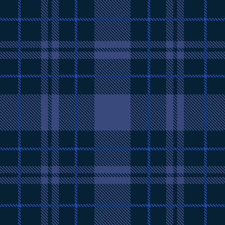 Hermoso vector de patrón de cuadros azul clásico
