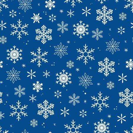 Beautiful seamless snow flake vector pattern