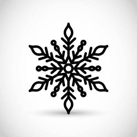 Beautiful snow flake vector icon