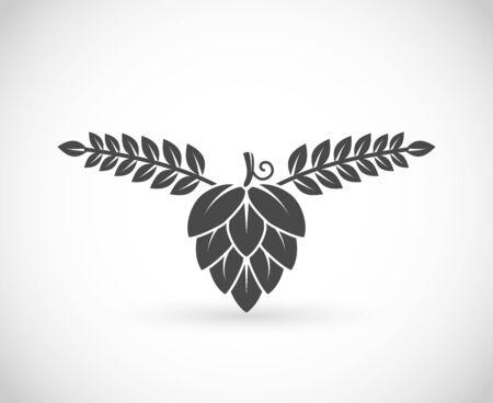 Hop and barley, brewery symbol vector