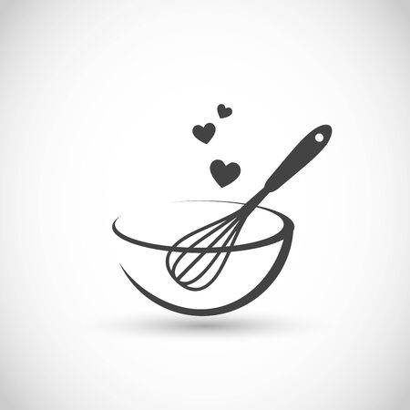 Cute vector illustration - hand beater with a bowl Vector Illustratie