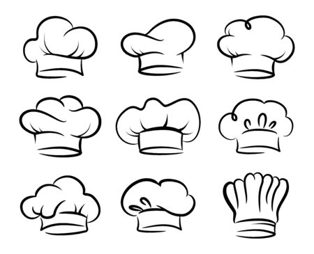 Chefs hat vector set, collection Vetores