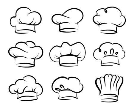 Ensemble de vecteur de chapeau de chef, collection Vecteurs