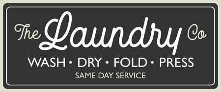 Vintage retro Laundry Room sign for stylish home design vector