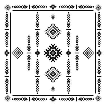 Tribal, navajo square vector decoration