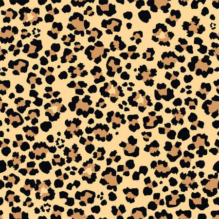 Leopard vector seamless pattern art Vectores