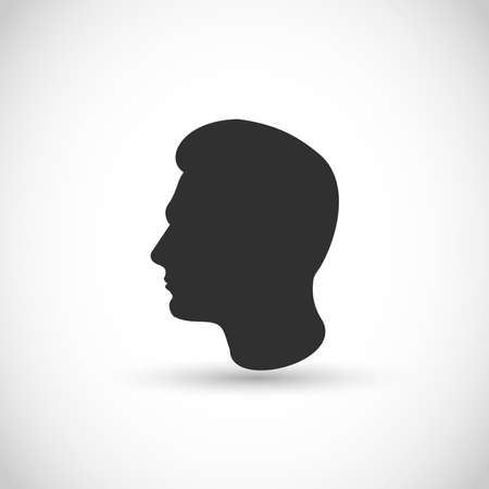 Man head profile vector icon