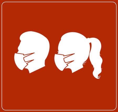 Red warning coronavirus safety sign vector 向量圖像