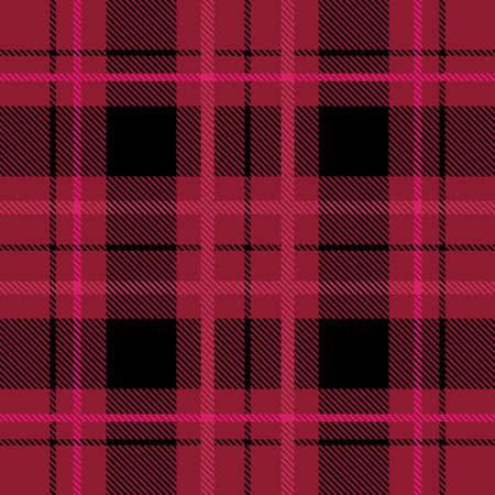 Red plaid pattern vector background