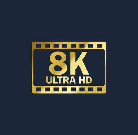 8k vector gold resolution quality sign