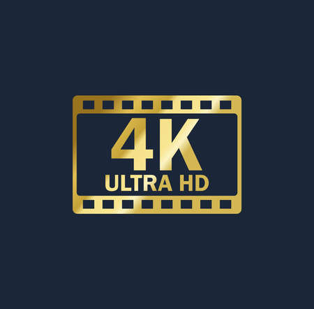 4k vector gold resolution quality sign 矢量图像