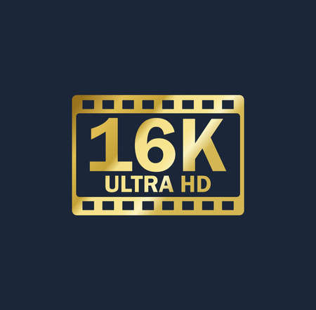 16k vector gold resolution quality sign