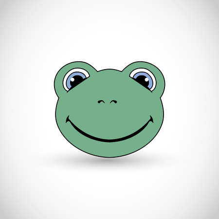 Cute little smiling frog illustration vector