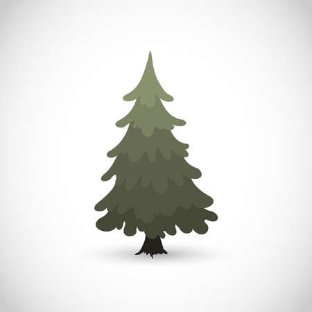 Beautiful christmas tree vector illustration  イラスト・ベクター素材