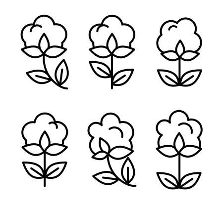 Beautiful set of thin line style cottin icons vector