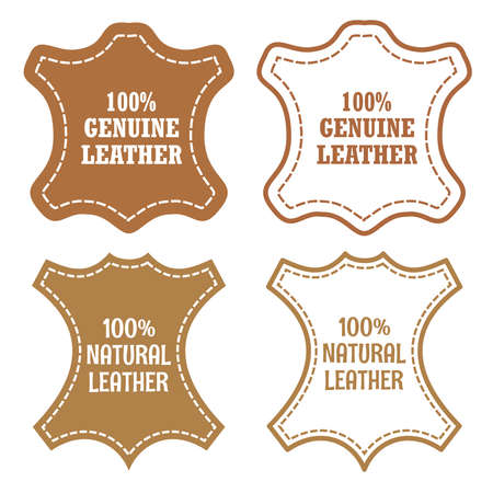 Genuine leather vector two signs