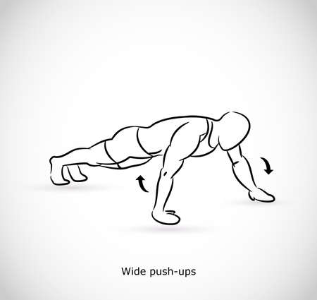 Type of exercise for wide push ups