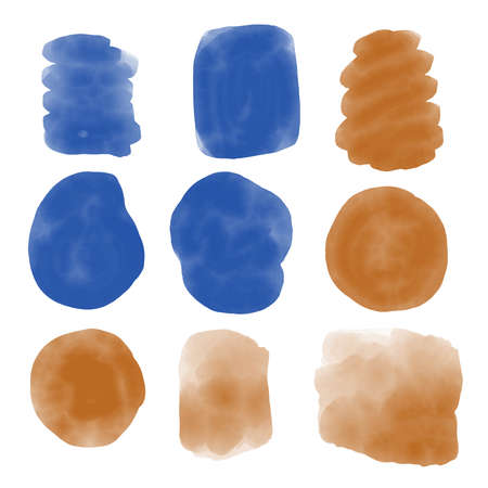 Watercolor beautiful stain set vector