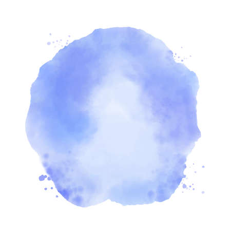 Blue watercolor vector stain on white background
