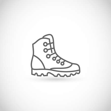 Hike boot thin line style vector icon 矢量图像