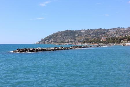 sanremo: The coast in Sanremo  Italy