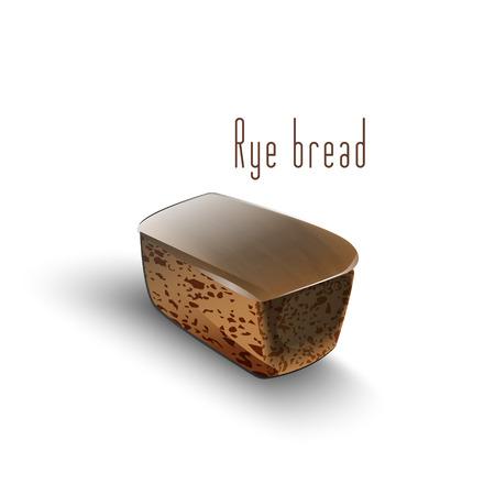 bread loaf: Rye bread loaf on a white background. EPS 10.