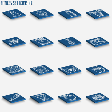 spotless: Spotless series ,hand drawn fitness icon set