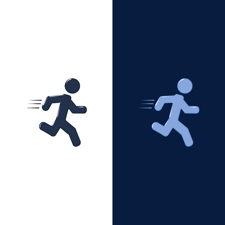 running man icon, can be used for infographics and presentation