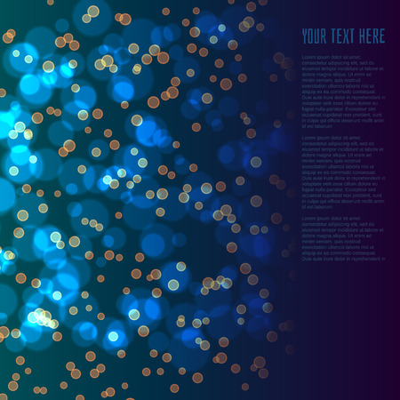 diffusion: Colorful bokeh background. can be used as a design element. Vector illustration