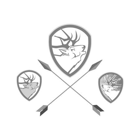 deer logo for vasheno business on a white background Vector