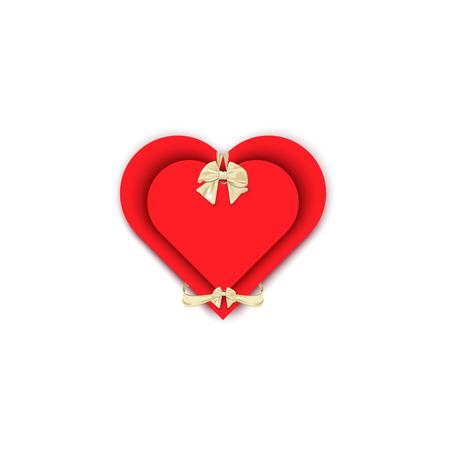 slantwise: cravatta cuore piega regalo, carta regalo con amore su uno sfondo bianco