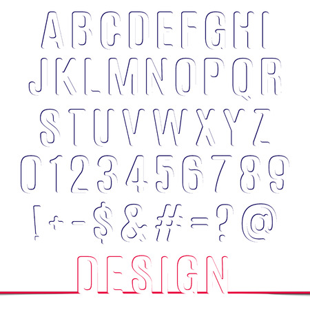 alphabet letters and numbers  Vector set creative design letters isolated on white background Vector