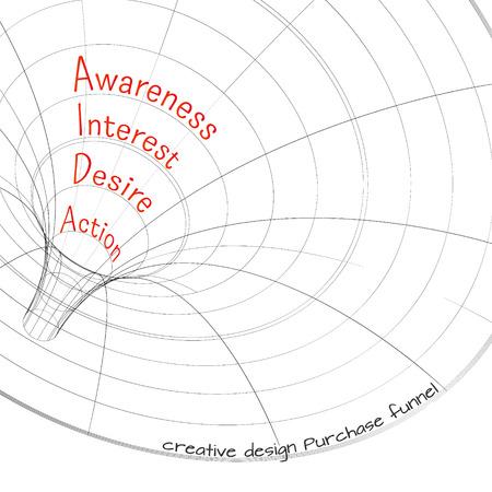 Entonnoir de ventes pour les infographies sur un fond blanc 3D. Vector illustration. Banque d'images - 36006741