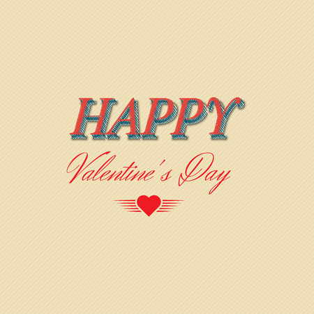 Happy Valentines Day  Typographical Background. Vector illustration Vector
