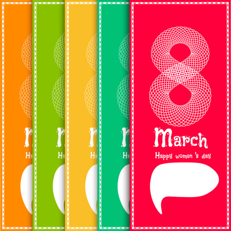 compliments: March 8 Spring greeting set card concept. EPS10