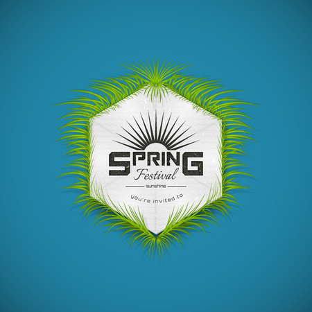 spring festival: Spring Festival realistic badge, can be used for flyers and presentations Illustration