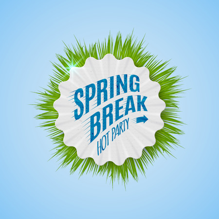 Festival spring break realistic badge, can be used for flyers and presentations