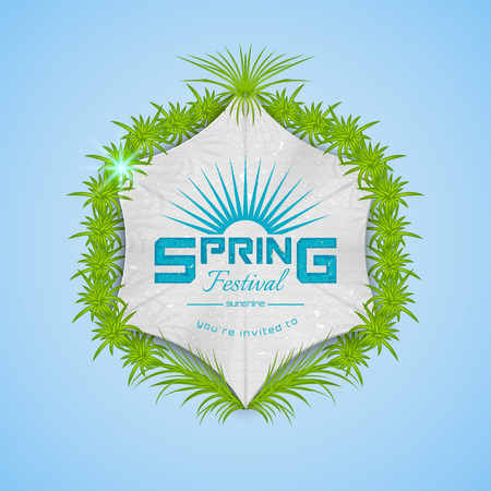 bash: Spring Festival realistic badge, can be used for flyers and presentations Illustration