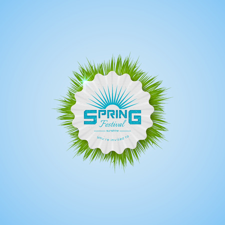Spring Festival realistic badge, can be used for flyers and presentations Illustration