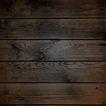Wood texture. Natural Dark Wooden Background.  Ilustracja