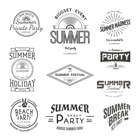 the festival: Summer holiday party festival,  badges Stickers.  Illustration