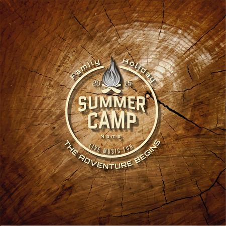 summer break: Summer camp badge