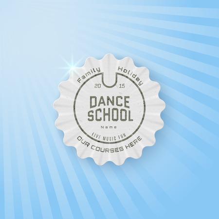 school dance: School of Dance badges Illustration