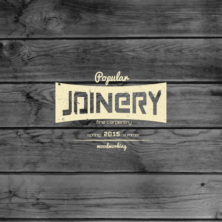 woodworking: Woodworking badges and labels for any use, on wooden background texture