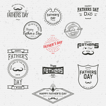 fathers day: Fathers day badges and labels for any use, on a white background Illustration