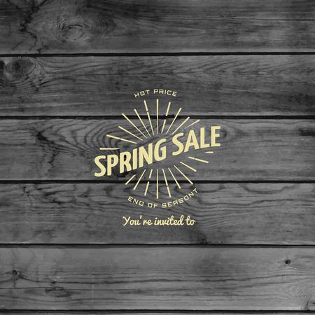 Spring sale badges and labels  Illustration