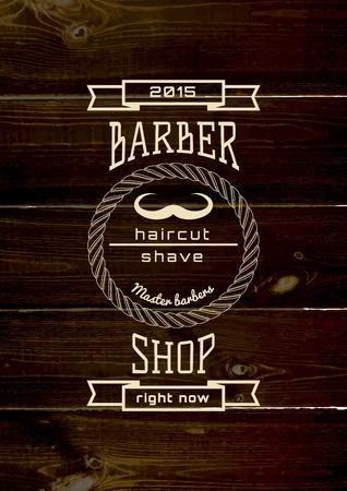 barbershop: Barbershop badges and labels  Illustration