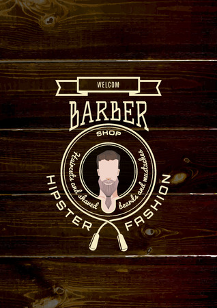 Barbershop badges and labels  Vector