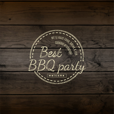 bbq: BBQ badges and labels  Illustration