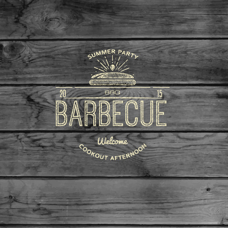 BBQ badges and labels  Vector